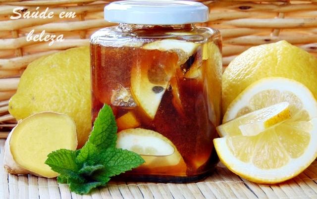 Remédio para dor de garganta com elementos naturais