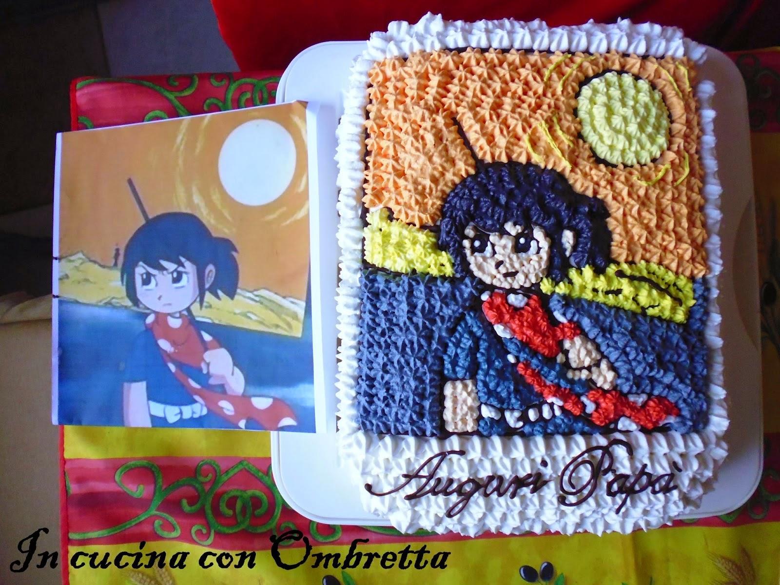 Immagine della torta Sasuke per il mio papà dal blog In cucina con Ombretta