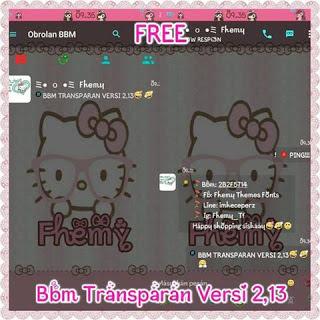 Kumpulan BBM MOD tema Hello Kitty Terbaru, Terupdate dan Terpopuler 2016 gratis