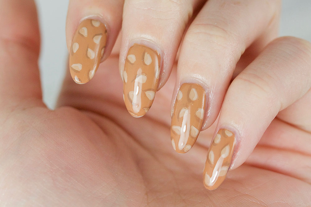 sesame seed, nail art, cheeseburger