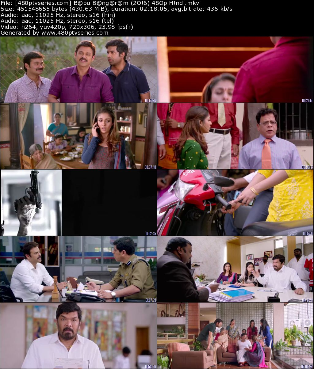 Babu Bangaram (2016) 400MB Full Hindi Dual Audio Movie Download 480p HDRip Free Watch Online Full Movie Download Worldfree4u 9xmovies