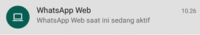 WhatsApp Web aktif