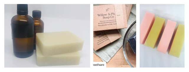 Collage featuring Willow and Plum soaps
