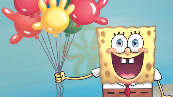 Spongebob with balloons- time for a celebration!