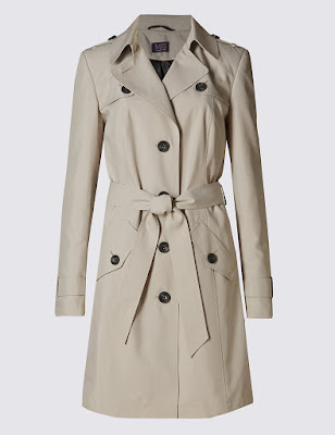 Marks and Spencer Belted Mac With Stormwear