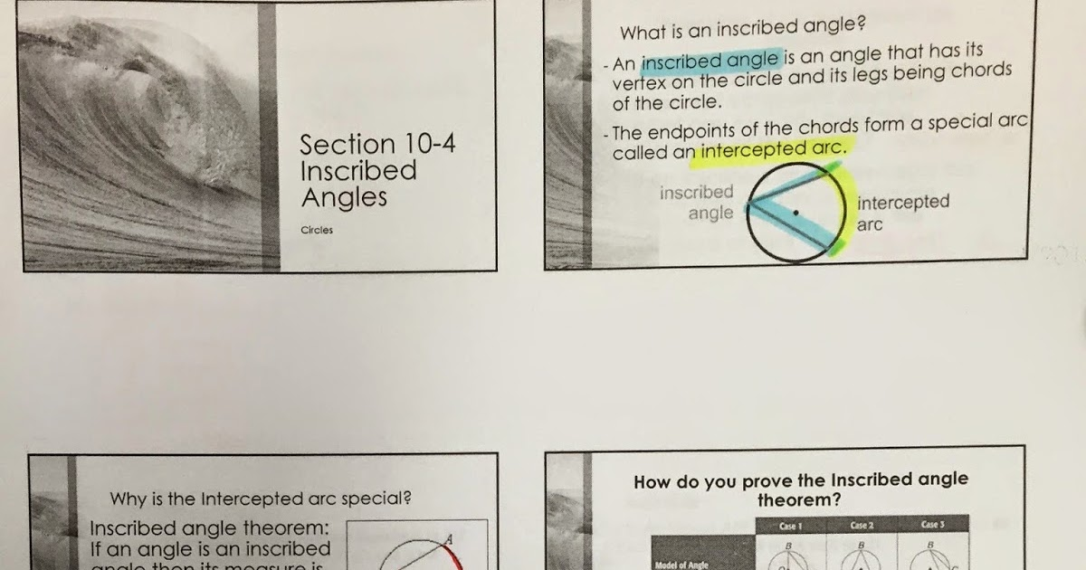 Honors Geometry - Vintage High School: Section 10-4 ...