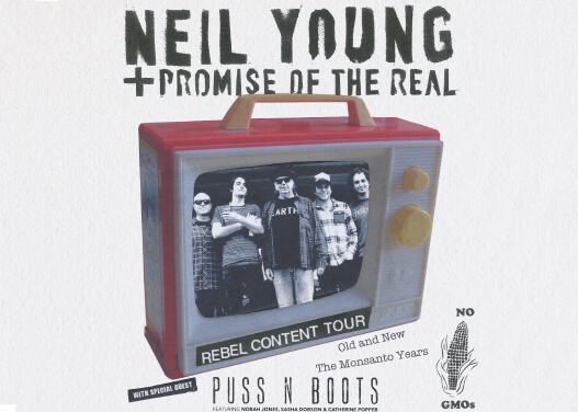 """Neil Young"", ""Rebel Content Tour Poster 2015"""