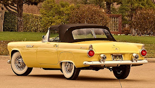1955 Ford Thunderbird Convertible Rear Left