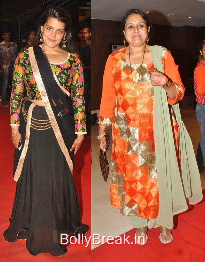 Supriya Pathak,  Sanah Kapoor, Hot Pics of Divyanka Tripathi At Karan Patel Ankita Bhargava's sangeet ceremony