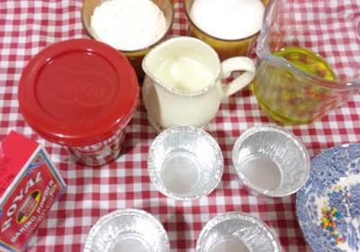 Ingredientes Cupcakes con Nocilla
