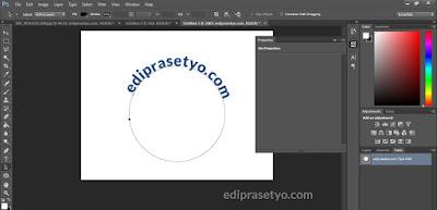 Cara membuat teks melengkung atau melingkar di photoshop