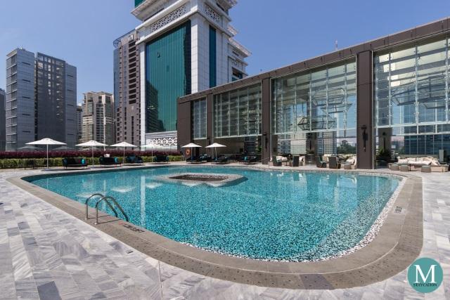 outdoor swimming pool at W Hotel Kuala Lumpur