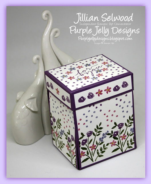 Exploding Box, Number of years stamp set, Rich Razzleberry