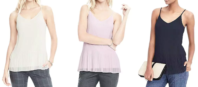 Banana Republic Pleated Top $21-26 (reg $54)