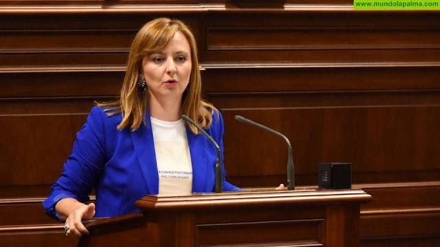 Nieves Lady Barreto defiende en el Parlamento que se apoye a las mujeres para que creen empresas en sectores como el industrial, el turístico o el primario