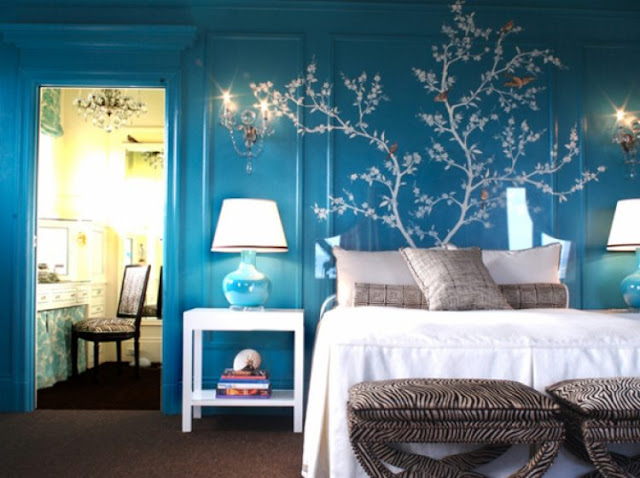 Textured Blue Bedroom