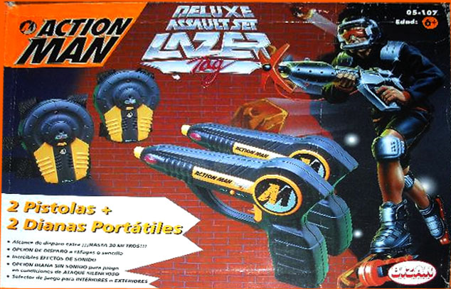 Pistolas Actionman: De luxe assault set lazer