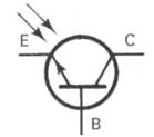 Transistor Symbol - Phototransistor NPN