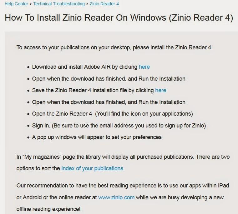 Yufan-fansbook: [電腦疑難雜症]-在Window 7安裝Zinio-install