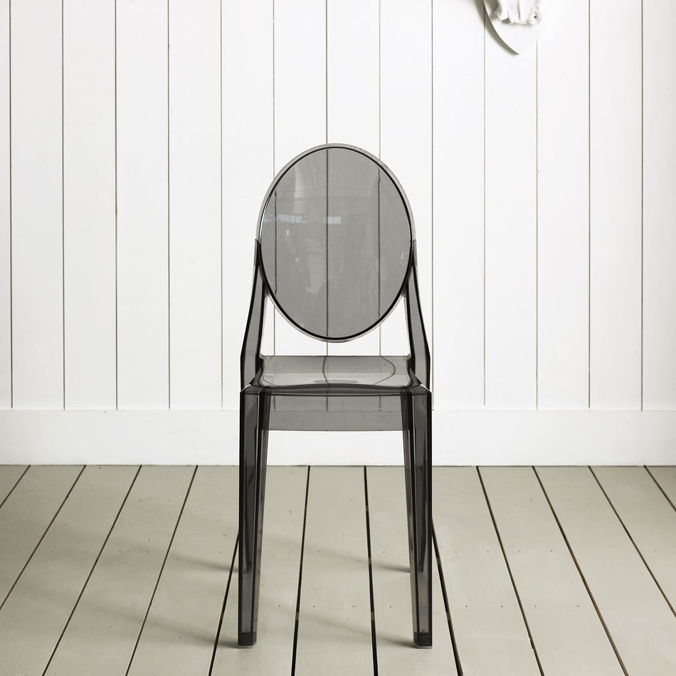 victoria ghost chair black plastic kartell. Black Bedroom Furniture Sets. Home Design Ideas