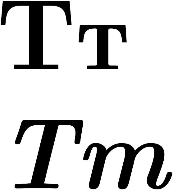 ¿Por qué la т cursiva y la m cursiva son idénticas?