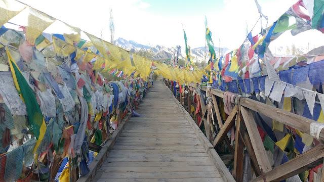 A Small wooden bridge in Leh