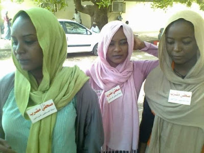 Sudanese journalists on Strike