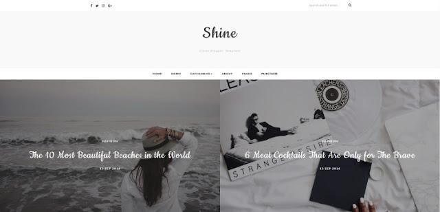 shine шаблон blogger для фотографов