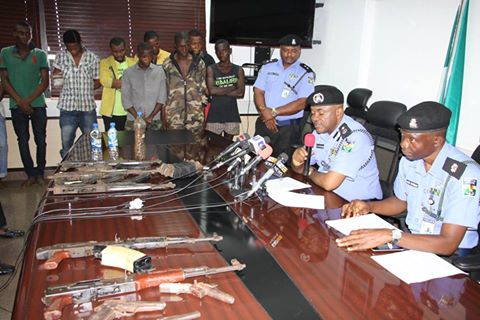 Nigeria Police Force arrested kidnappers of port harcourt residence of GRA today