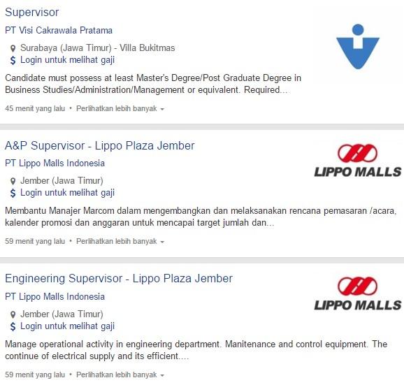 Loker PT Lippo Malls Indonesia Kota Jember Terbaru Mei - Juni 2020