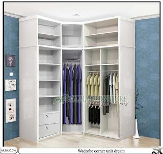 Lemari pakaian minimalis model sudut dream
