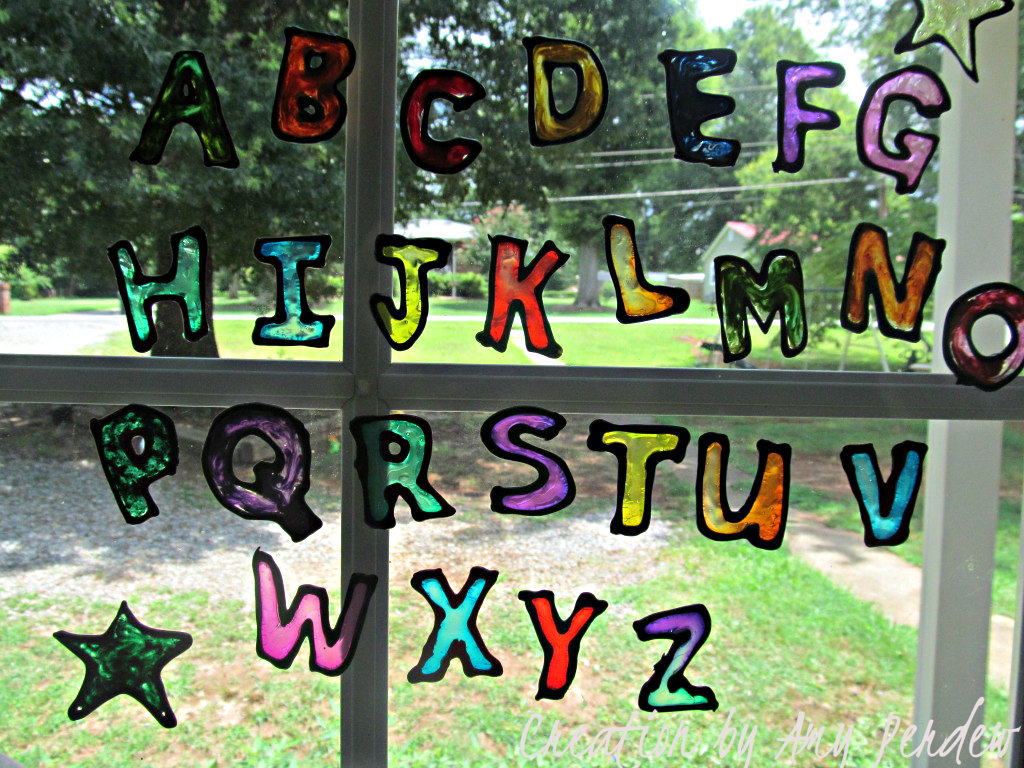 Consider Me Inspired Make ABC Window Clings - How to make car window decals at home