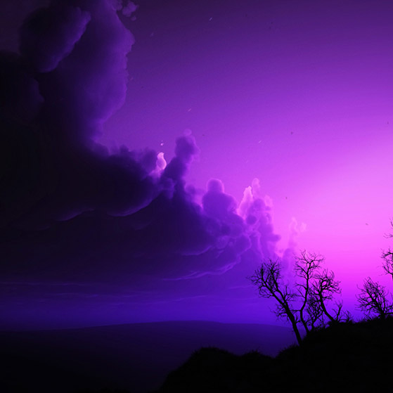 Purple Landscape Wallpaper Engine