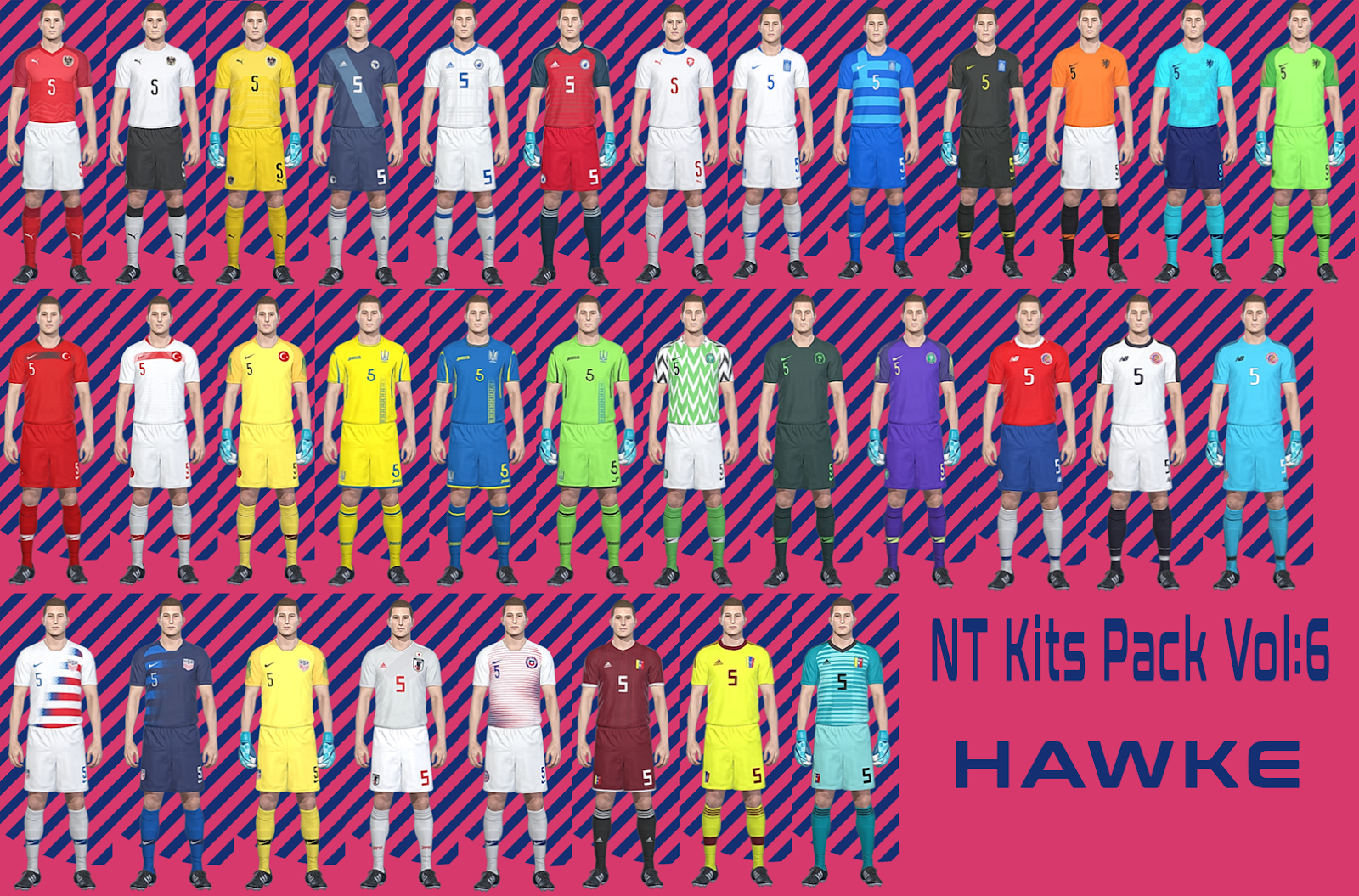 PES 2018 PTE 4.3 NT Kits by Hawke