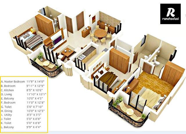 Gambar Desain Rumah Minimalis 3 Kamar Tidur