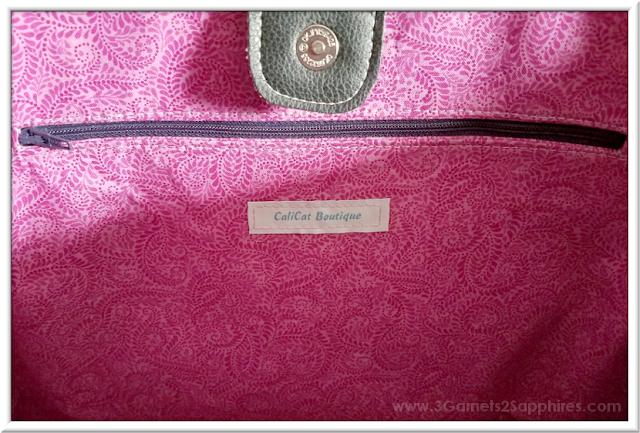 Custom Disney Princesses Tote Bag with Contrast Lining   3 Garnets & 2 Sapphires