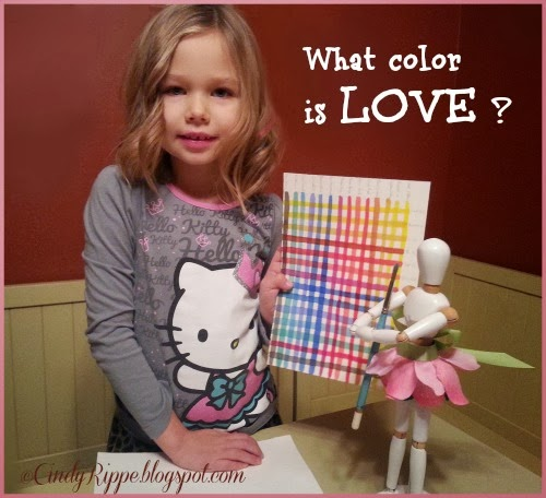 Flora's Friday Art Adventures - Jan 10, 2014, What Color is Love?, CindyRippe.blogspot.com, Intro to Watercolors, Cindy Rippe, Family Art Projects