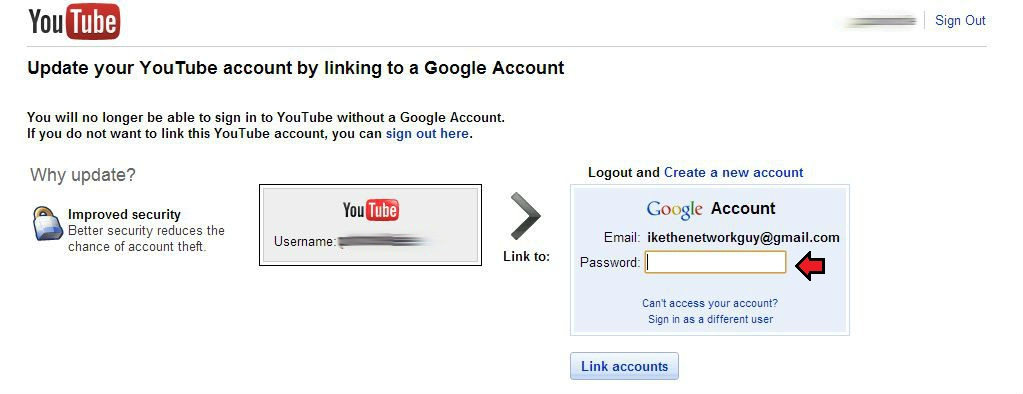 Ike the Network Guy: How to: Change which Google account is linked