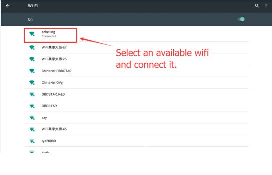 利用可能な無線LANを選択して接続します
