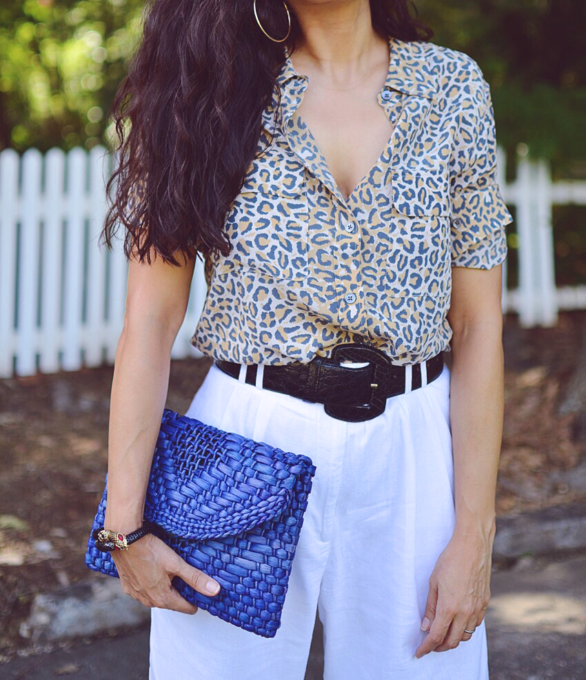 Outfit with leopard and white