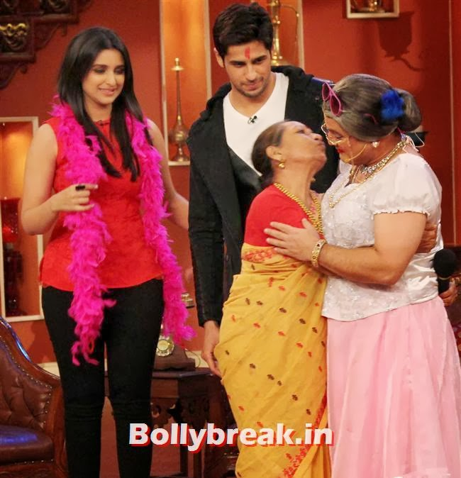 on the sets of Comedy Nights with Kapil, Parineeti & Sidharth on Comedy Nights with Kapil