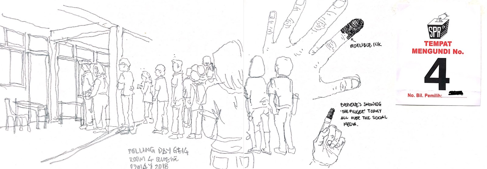 Voted for a Better Malaysia | Urban Sketchers