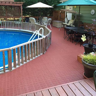 Greatmats outdoor patio tiles poolside deck plastic tiles