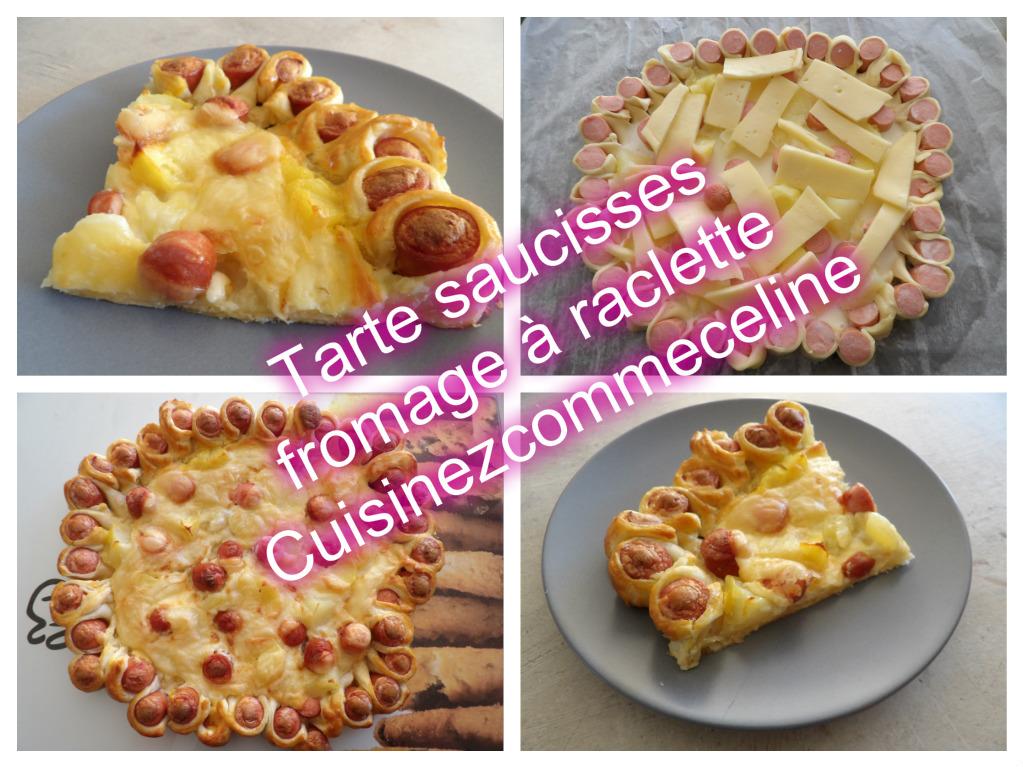 cuisinezcommec lineetpoupette tarte saucisses fromage raclette. Black Bedroom Furniture Sets. Home Design Ideas