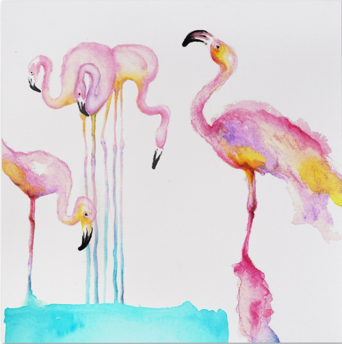 Flamingo Art Prints from Paintings