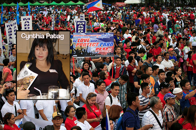 Actress Cynthia Patag exposes Duterte vigil: 'P500 per person'