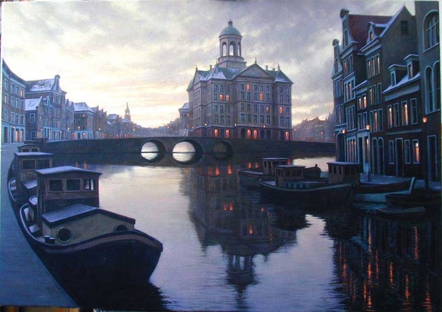 19-Alexey-Butyrsky-Architecture-in-Paintings-of-Cityscapes-at-Night-www-designstack-co