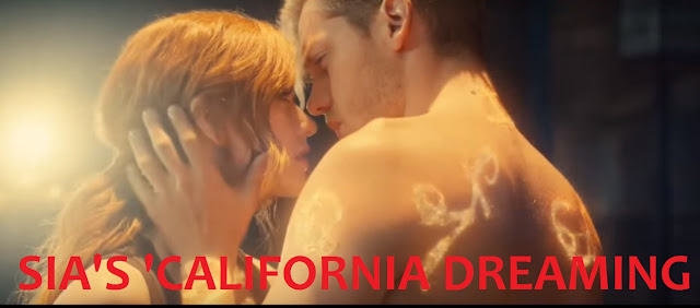 Still Image from Sia's new single and video 'California Dreaming' featuring Clary and Jace from 'Shadown Hunters'