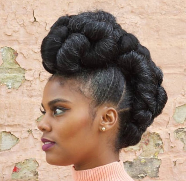 Easy Pin Up Styles For Natural Hair