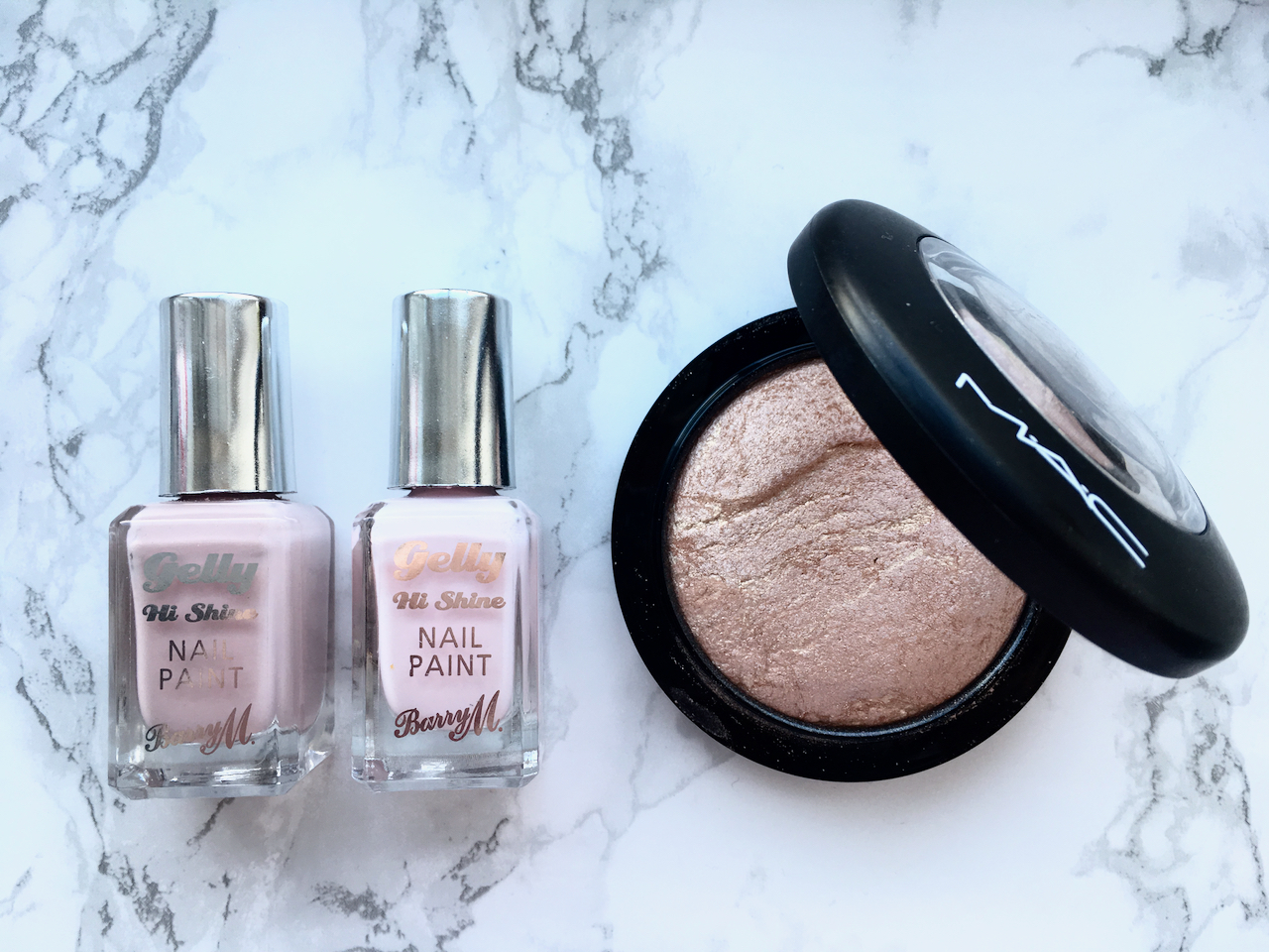 Beauty blogger favourites - Barry M Gelly Nail Paints and MAC Highlighter